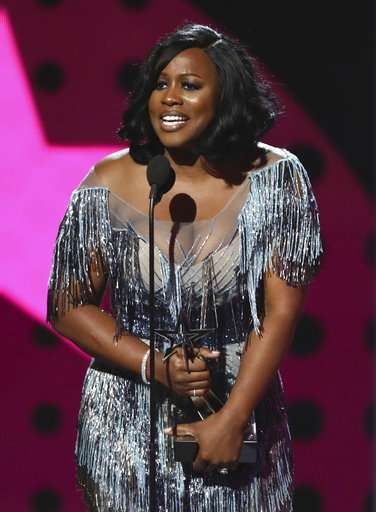 Remy Ma accepts the award for best female hip hop artist at the BET Awards at the Microsoft Theater on Sunday, June 25, 2017, in Los Angeles.