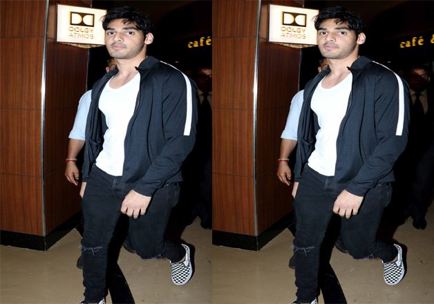 Athiya Shetty's brother Aahan Shetty was also spotted at the special screening of the film Mubarakan. According to the latest buzz, he is all set for his Bollywood debut soon.