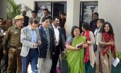 IAS Association Secretary Manisha Saxena, along with other