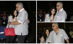 Janhvi Kapoor came back to Mumbai and her father Boney