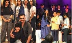 Anshula Khushi Kapoor attend Shanaya Kapoor graduation