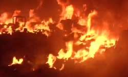 Fire in plastic waste in Delhi's Nangloi; no casualties