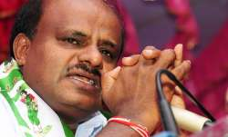 "Earlier in the day, Kumaraswamy said he was ""not happy"""
