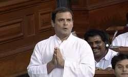 Congress President Rahul Gandhi speaks in the Lok Sabha