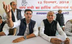 Congress leaders Sachin Pilot and senior leader Ashok