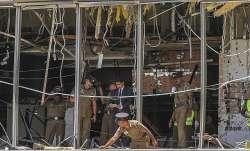 Sri Lankan police investigating blast site