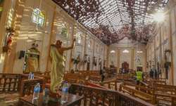 St. Sebastian's Church damaged in the blast in Negombo,