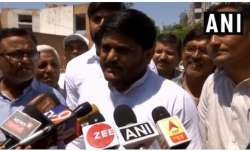 Hardik Patel after casting his vote in Viramgam