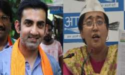 Gambhir and Atishi have been been involved in a major war