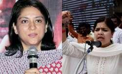 Congress leader Priya Dutt (left) and Bharatiya Janata