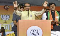 MP Chief Minister Shivraj Singh Chouhan campaigning for BJP
