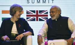Prime Minister Modi with outgoing British PM Theresa May