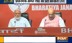 WATCH LIVE | PM Modi, Amit Shah address BJP press conference