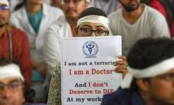 Doctors take out a silent protest march in Goa
