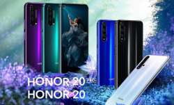 Honor 20 to go on sale today