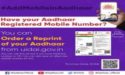 You can easily order for an Aadhaar card reprint through