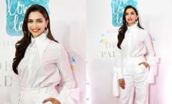 Deepika Padukone donned an all-white outfit for an event in