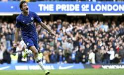 Chelsea's Marcos Alonso celebrates scoring his side's first