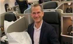 A passenger inside Qantas' New York Sydney flight