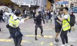 Dramatic video shows Hong Kong Police shooting protester