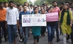 Protestors in Hyderabad demand justice for gangrape victim