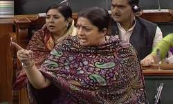 Congress looted country, Modi brought development, says Smriti Irani