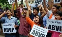 Akhil Bhartiya Vidyarthi Parishad, ABVP, Gujarat Central University, Gujarat Central varsity polls,