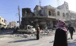 Russian air strikes in Syria kill 12 civilians