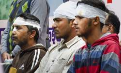 Injured victims of riot-affected areas during a tribute