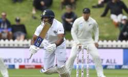 India's Mayank Agarwal sets off on a run during the first