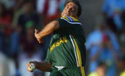 Shoaib Akhtar in action against India in World Cyo 2003