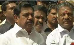 Tamil Nadu Chief Minister E Palaniswami with Deputy CM O