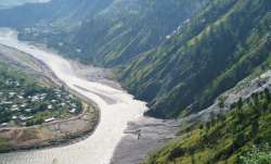 A stretch of the Jhelum River, as it flows through PoK