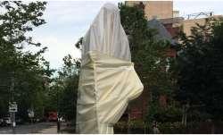 Mahatma Gandhi statue outside Indian Embassy in Washington desecrated