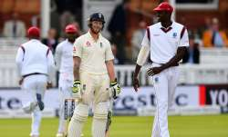 Ben Stokes and Jason Holder during Lord's Test in 2017
