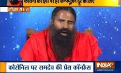 Swami Ramdev coronil press conference