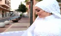Watch: Beirut bride's wedding shoot captures explosion as she poses for picture, video surfaces