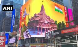 WATCH: Digital billboard of Lord Ram and Ram Mandir goes live on New York's Times Square
