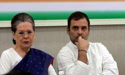 Congress president Sonia Gandhi and her son Rahul Gandhi