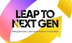 realme, realme event, realme leap to next gen event on oct 7, realme 55-inch SLED smart tv, realme 5