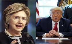 US' former Secretary of State Hillary Clinton and President Donald Trump