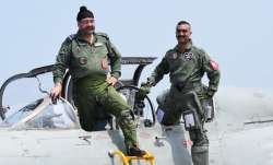 Air Chief Marshal BS Dhanoa (retired) with Wing Commander