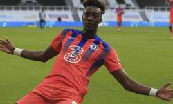 Chelsea's Tammy Abraham celebrates after scoring his side's