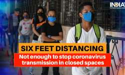 Six feet distancing not enough to stop coronavirus transmission in closed spaces: Study