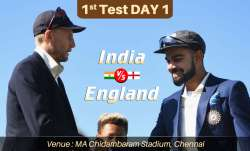 Live Cricket Score India vs England 1st Test Day 1: Live Updates from Chennai