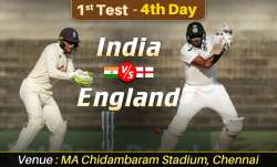 Live Score India vs England 1st Test Day 4: Live Updates from Chennai