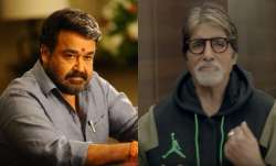 Mohanlal gifts Big B, daughter Vismaya's book 'Grains Of Stardust'
