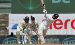 Rishabh Pant in action against India during day 3 of 1st