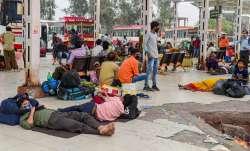 migrants exodus, delhi lockdown