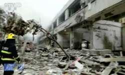 china powerful gas explosion, china explosion, china powerful gas explosion killed injured